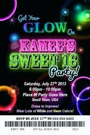 neon party ideas new neon party invitation template for invitation template as