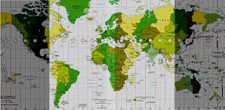 utc zone map zones utc gmt 1 central european mez