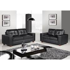 Brown Leather Sofas by Strada Black Leather Sofa Suite Collection