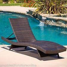 Lounge Chair Outdoor Outdoor Brown Adjustable Chaise Lounge Pe Wicker Patio Furniture