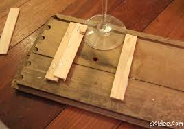 How To Build Wood Shelf Supports by Reclaimed Wine Glass Rack Diy Picklee