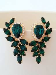 green earrings best 25 emerald green earrings ideas on green