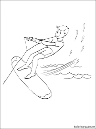surfing coloring coloring pages