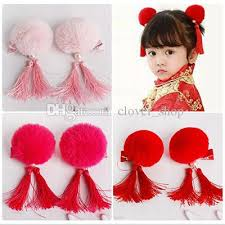 kids hair accessories fur tassel hair hairband band for