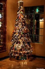 beer bottle christmas tree christmas lights decoration