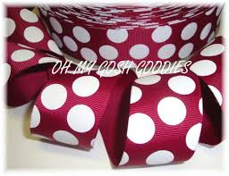 alabama ribbon crimson ribbon maroon jumbo dot grosgrain crimson grosgrain