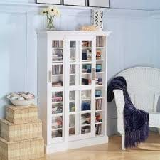 Bookcase With Frosted Glass Doors Media Cabinet Glass Doors Foter