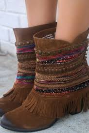 Brown Fringe Ankle Boots Desert Fringe Rust Zip Up Peep Toe Wedge Ankle Boot With Fringe