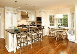 breakfast nook table elegant kitchen photo in dc metro with