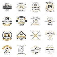 set of photography logo design templates photography retro badges