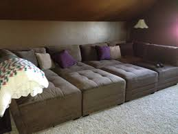 The Movie Pit Sofa by Tapas In A Basement Media Room Perfect For The Family To Chill