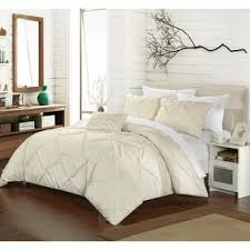 Pinched Duvet Cover Chic Home 3 Piece Nikola Pinch Pleat Pintuck Duvet Cover Set