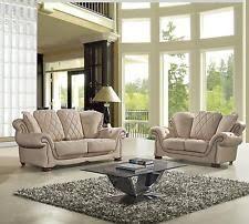 Cream Leather Sofa EBay - Cream leather sofas