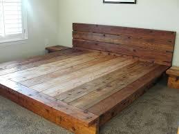 King Platform Bed Frame With Headboard Wood Platform Bed Frames A King Platform Bed Frame With Headboard