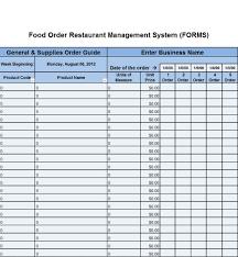 Kitchen Inventory Spreadsheet by Cumberland Pennsylvania Restaurant Consultants Restaurant