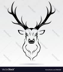tribal stag tattoo tribal deer head royalty free vector image vectorstock