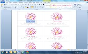 how to make business cards in word card design ideas