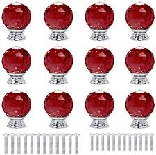 what type of glass is used for cabinet doors anjuu 12 pcs 30mm shape glass cabinet knobs with screws drawer knob pull handle used for kitchen dresser door cupboard