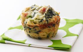 and spinach savory muffins