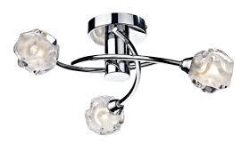 dar lighting seattle 3 light semi flush ceiling light u0026 reviews