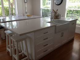 kitchen island breakfast table splendid kitchen island with sink also large silver spoon wall