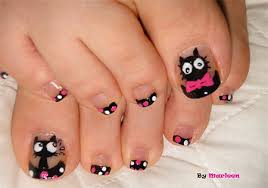 cat face toe nail art designs u0026 ideas 2014 for girls fabulous