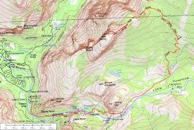 Map Of Yosemite Half Dome Cable Route Hike Yosemite National Park Map And