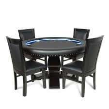 ginza led round 4 person poker table with dining top and 4 dining