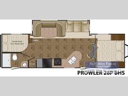 Cougar Trailers Floor Plans Used 2013 Heartland Prowler 28p Bhs Travel Trailer At Gayle Kline