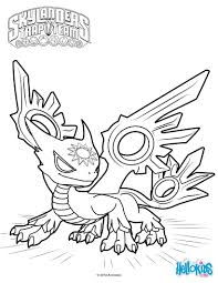 spotlight the white dragon coloring page from skylanders trap team