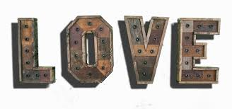 any 4 reclaimed wood marquee letters w lights shabby chic
