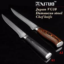 japanese damascus kitchen knives xituo 5 5 inch damascus boning knives utility japanese vg10
