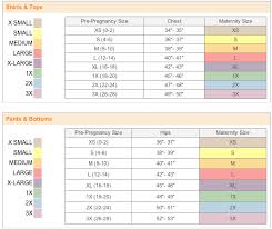 maternity size chart motherhood closet maternity consignment