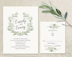 wedding invitations greenery wreath leaves wedding invitations greenery leaves wreath