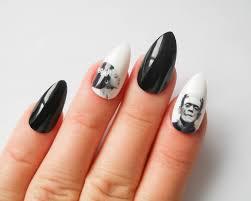 frankenstein stiletto nails fake nails frankenstein bride
