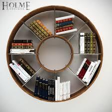 3d Bookshelf Circular Bookshelf 3d Model In Shelving 3dexport