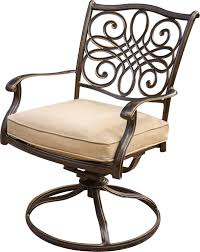 Cushioned Chairs Hanover Traditions 3 Piece Outdoor Bistro Set With Cushioned