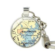 aliexpress com buy baltimore map fashion jewelry keychain