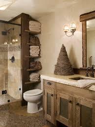 Rustic Wood Bathroom Vanity - bathroom large rustic bathroom with rectangle brown wood