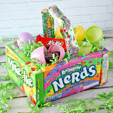 candy basket ideas creative easter basket ideas no basket needed happy go lucky