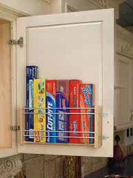kitchen cabinet door organizers how to hide eyesores around the house door storage wax and storage