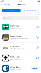 how to view your download history in the app store