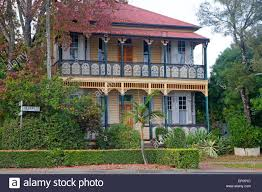 colourful traditional british colonial house in grafton new south