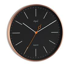 Designer Clock by Buy Opal Panache Wall Clock Copper Plated Designer Black Online