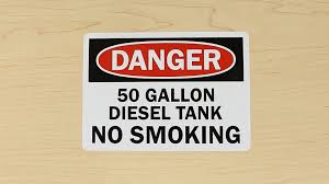 diesel fuel signs video guide mysafetysign com