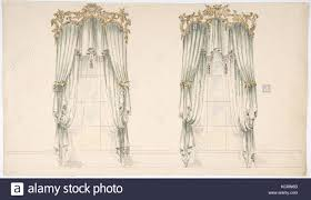 Gold And White Curtains Design For White Curtains With White Fringes And A Gold And White
