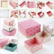 ideas diy origami gift box