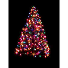 How To String Lights On Outdoor Tree Branches by Home Accents Holiday 7 Ft To 9 Ft Pre Lit Led Virginia Pine Grow