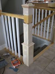 how to make a banister for stairs update a banister with diy newel post and spindles tda