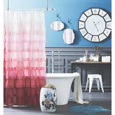 Cloth Shower Curtains Bathroom White Shower Curtain With Curtain Styles Also White